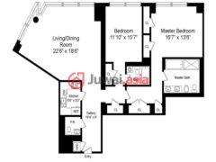 居外网在售美国纽约2卧2卫的房产USD 6,950,000