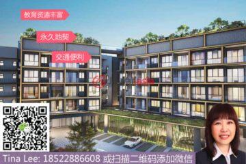 居外网在售新加坡3卧2卫新开发的房产总占地84平方米SGD 1,370,000