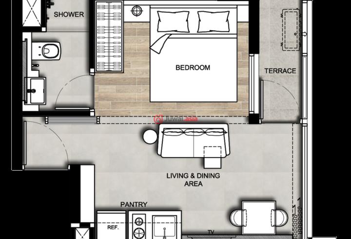 物业管理处   住户层:2-7楼   8楼:住户,健身房,洗手间带汗蒸房,更衣