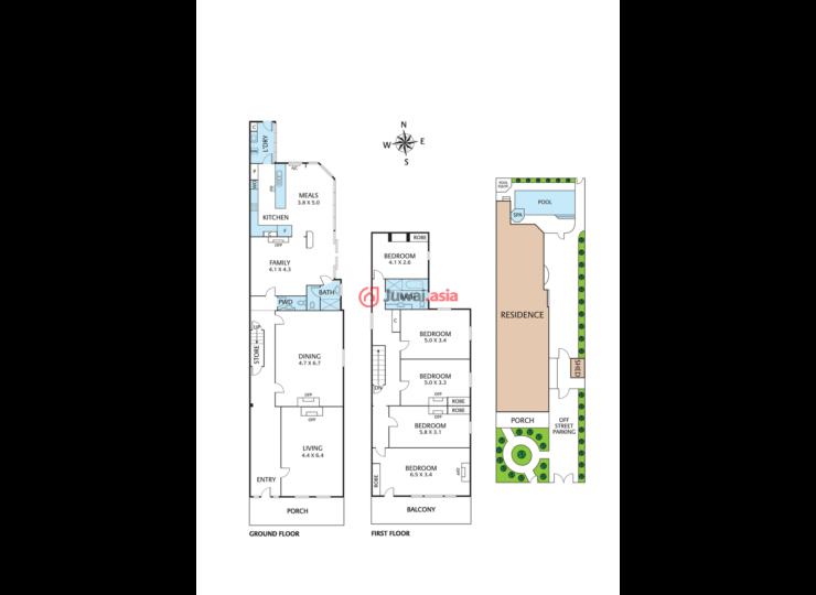 5居室户型维多利亚风格住宅,拥有华美的外立面,体现出丰富的时代特色.